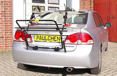 Honda Civic Hybrid StH Bike carrier in loading position