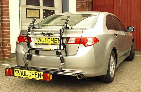 Honda Accord Stufenheck Bike carrier with comfort load extension in loading position. Without trailer hitch!