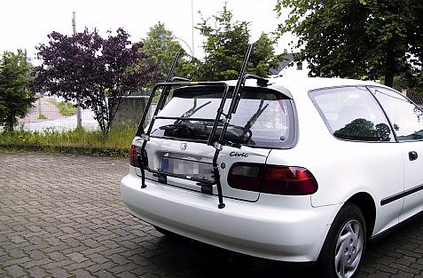 Honda Civic Steilheck (EG) Bike carrier in standby position