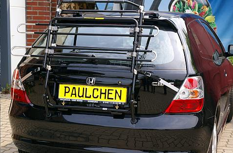 Honda Civic Facelift Bike carrier in standby position
