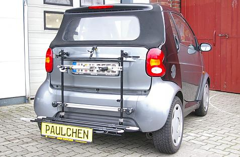 Smart Smart fortwo Coupé und Cabrio (450) Bike carrier with comfort load extension in loading position. Without trailer hitch!