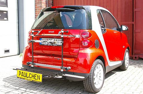 Smart Smart fortwo Coupé (451) Bike carrier with comfort load extension in loading position. Without trailer hitch!