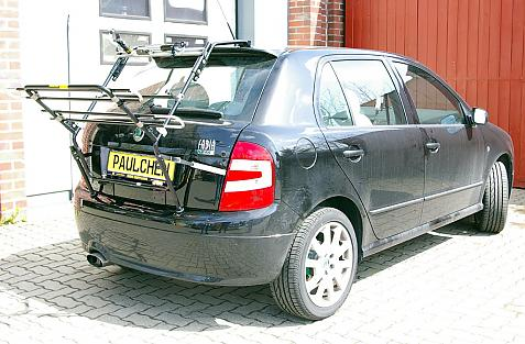 Skoda Fabia RS (6Y2) Bike carrier in loading position