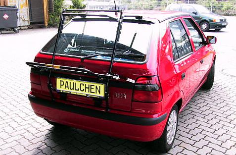 Skoda Felicia Bike carrier in loading position