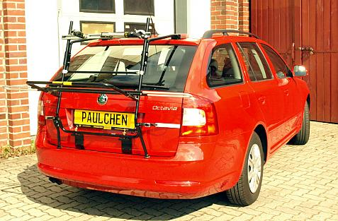 Skoda Oktavia II Caravan Facelift Bike carrier in loading position