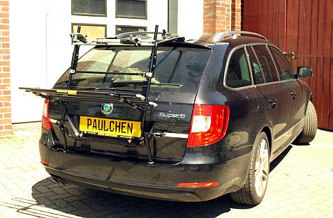 Skoda Superb Kombi II (3T5) Bike carrier in loading position