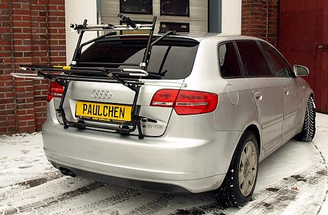 Audi A3 Sportback S-Line Bike carrier in loading position