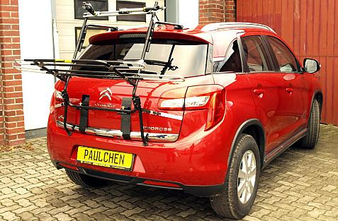 Citroen C4 Aircross Bike carrier in loading position