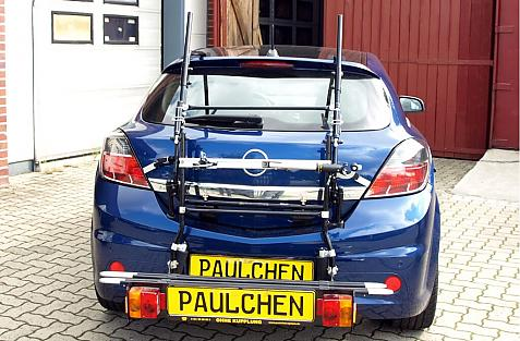 Opel Astra H Schrägheck OPC Bike carrier with comfort load extension in loading position. Without trailer hitch!