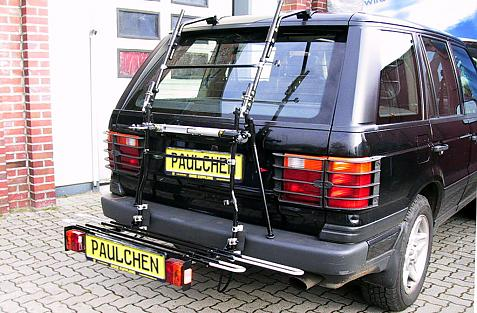 Land Rover/Rover Range Rover (LP) Bike carrier with comfort load extension in loading position. Without trailer hitch!