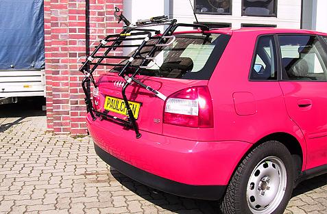Audi A3 Bike carrier in standby position