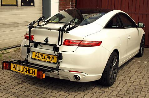 Renault Laguna III Coupé Bike carrier with comfort load extension in loading position. Without trailer hitch!