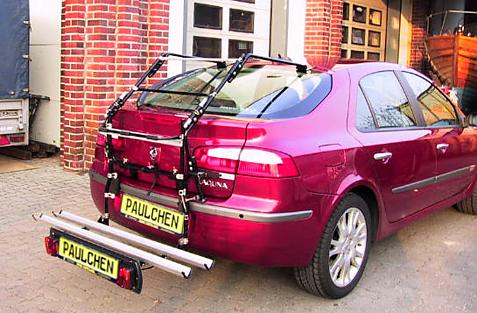 Renault Laguna II Schrägheck Bike carrier with comfort load extension in loading position. Without trailer hitch!