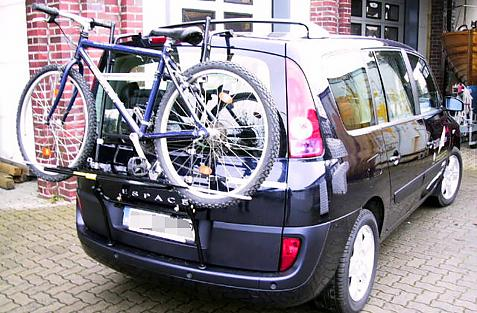 Renault Espace IV (JK) Bike carrier loaded with bike