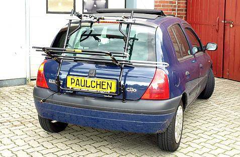 Renault Clio 2 (B) Bike carrier in loading position