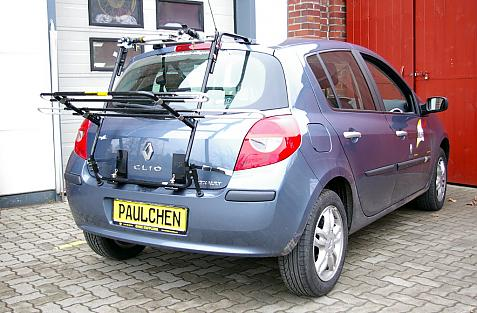 Renault Clio 3 (R) Bike carrier in loading position