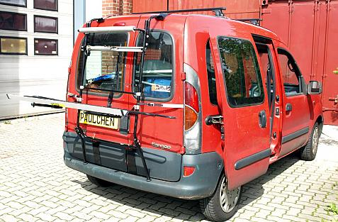 Renault Kangoo I Bike carrier in loading position