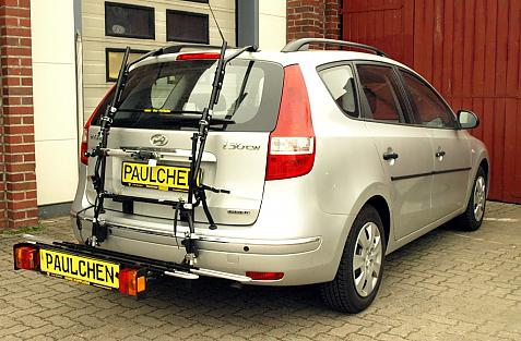 Hyundai i30 cw (FD/FDH) Bike carrier with comfort load extension in loading position. Without trailer hitch!
