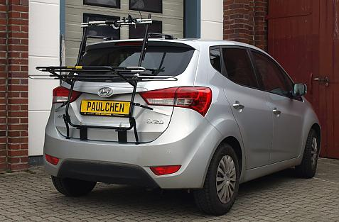 Hyundai ix20, auch Facelift (JC) Bike carrier in loading position