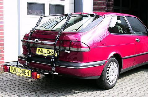 Saab 9-3 I Schrägheck (YS3D) Bike carrier with comfort load extension in loading position. Without trailer hitch!