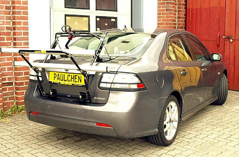 Saab 9-3 II Stufenheck (YS3F) Bike carrier in loading position