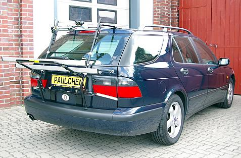Saab 9-5 Combi (YS3E) Bike carrier in loading position
