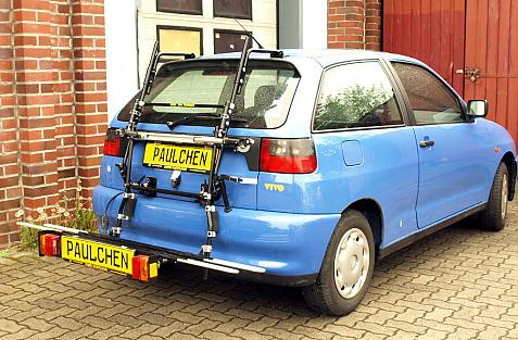 Seat Ibiza Bike carrier with comfort load extension in loading position. Without trailer hitch!