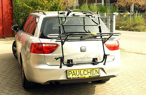 Seat Exeo Bike carrier in loading position