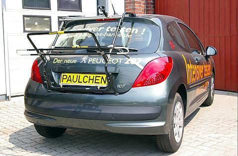 Peugeot 207 Bike carrier in loading position