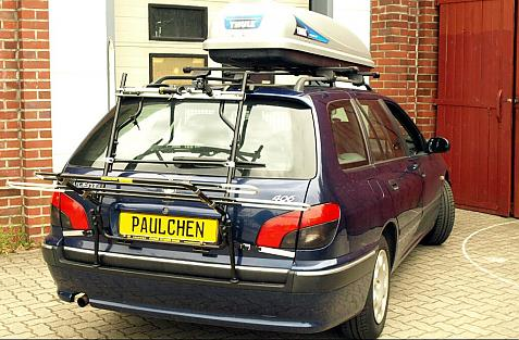 Peugeot 406 Break Bike carrier in loading position