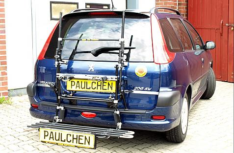 Peugeot 206 SW Bike carrier in loading position