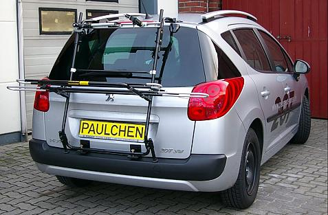 Peugeot 207 SW Bike carrier in loading position