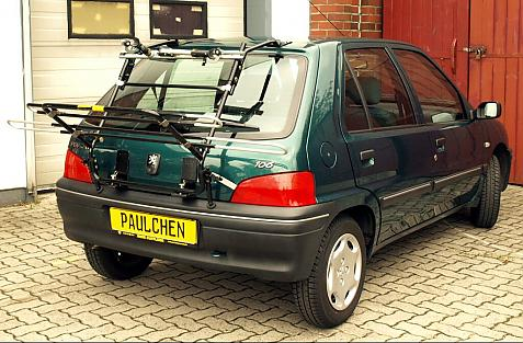 Peugeot 106 Bike carrier in loading position