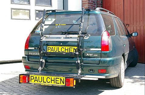 Peugeot 306 Break Bike carrier with comfort load extension in loading position. Without trailer hitch!
