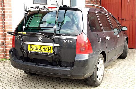 Peugeot 307 Break und SW Bike carrier in loading position