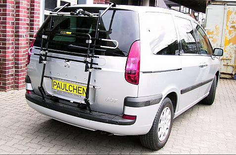 Peugeot 807 Bike carrier in standby position