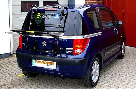 Peugeot 1007 Bike carrier in loading position