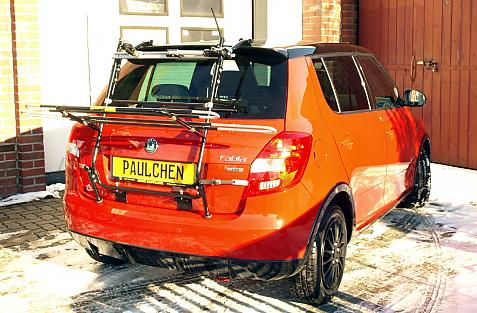 Skoda Fabia II RS Bike carrier in loading position
