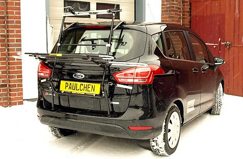 Ford B-Max Bike carrier in loading position