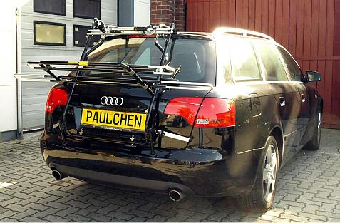 Audi A4 Avant Bike carrier in loading position