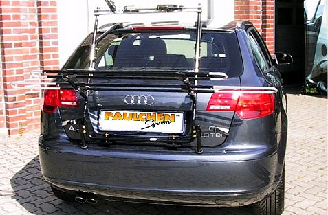 Audi A3 Sportback Bike carrier in loading position