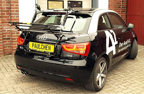 Audi A1 Bike carrier in loading position