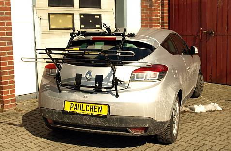Renault Megane III Coupe Bike carrier in loading position
