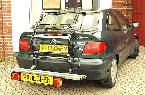 Citroen Xsara Schrägheck Bike carrier with comfort load extension in loading position. Without trailer hitch!