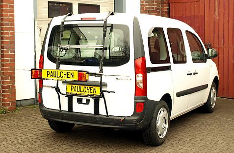 Mercedes Citan (W415) Bike carrier with light bar in loading position