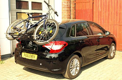 Citroen C4 (B7) Bike carrier loaded with bike