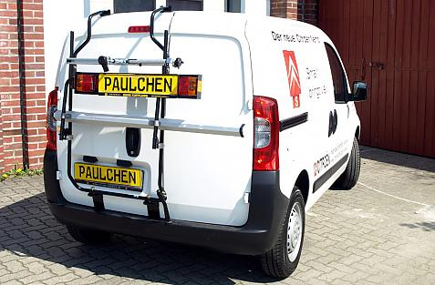 Citroen Nemo Bike carrier with light bar in standby position