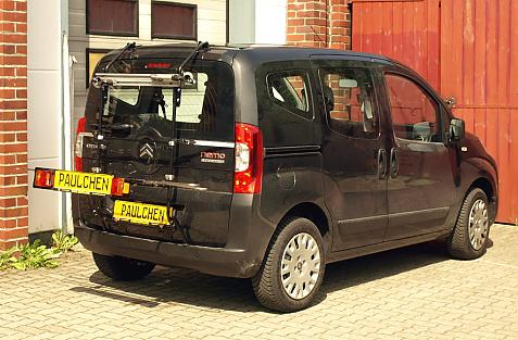 Fiat Fiorino Bike carrier with light bar in loading position