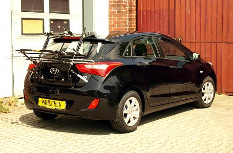Hyundai i30 (GD) Bike carrier in loading position