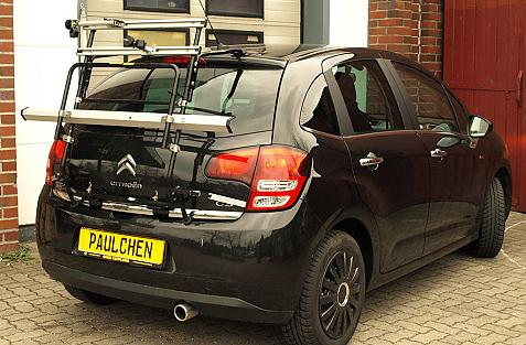 Citroen C3 II Bike carrier in standby position